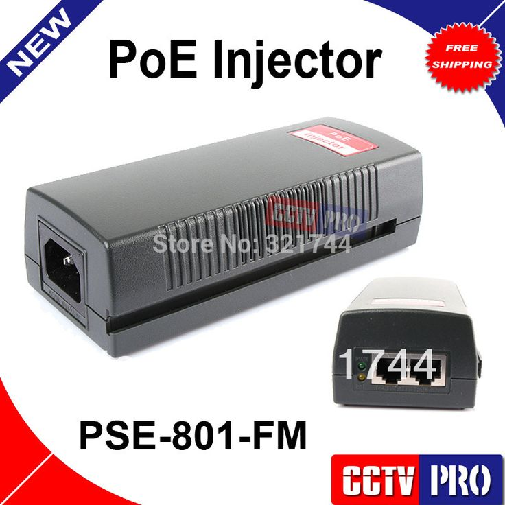 Poe Injector 48V 16W Full Out 100Mbps Power Over Ethernet Single POE Support Lighting Protection 802.11G POE Adapter