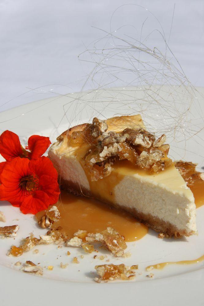 White Chocolate Cheesecake, Caramel & Pecan Nut from Fugitive's Drift