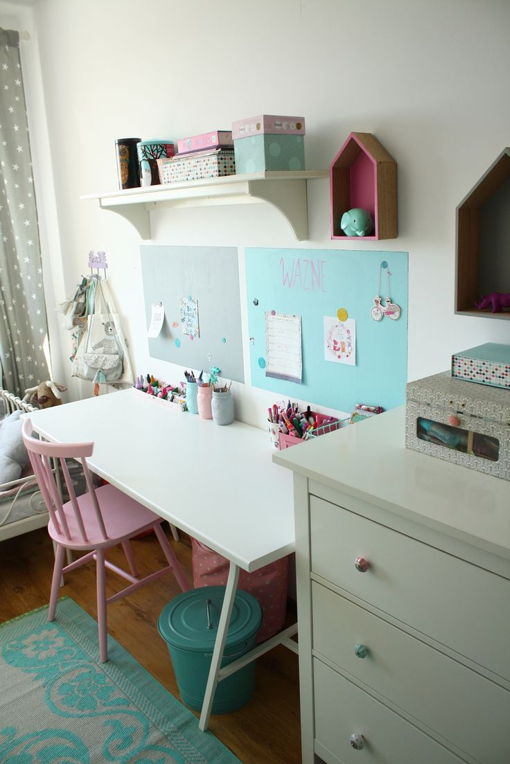 Kącik ucznia #desk #deskview #deskinspiration farba tablicowa Tikkurila Liitu foto: @mrspolkadot