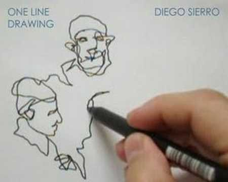 one line drawing by diego sierro