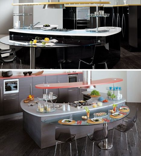 Kitchen Peninsula Island: 13 Best Kitchen Islands With Attached Tables Images On