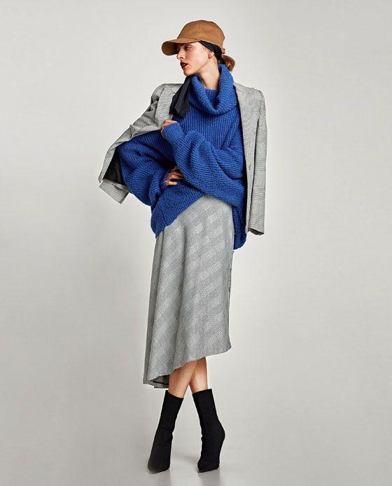 ZARA - レディ-ス - アシンメトリーチェック柄スカート