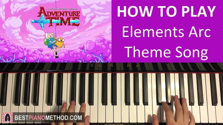 HOW TO PLAY - Adventure Time - Elements Arc Theme Song (Piano Tutorial L...