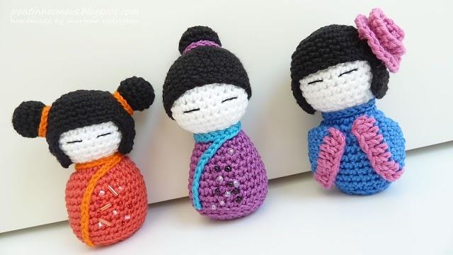 kokeshis in crochet ... Adorable amigurumi!