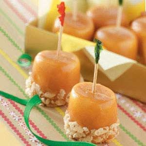 Caramel Marshmallow Treats.These are so good, I make them every year for candy exchange! But, I use pecans instead of rice cereal!
