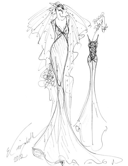 Elizabeth Fillmore, Spring 2013 Collection. Click through to see what inspired the designer.Spring Wedding Dresses, Wedding Dressses, Brides Sketches, Elizabeth Fillmore, Sketches Brides, 2013 Sketches, Fashion Illustration, Spring 2013, Fillmore Spring