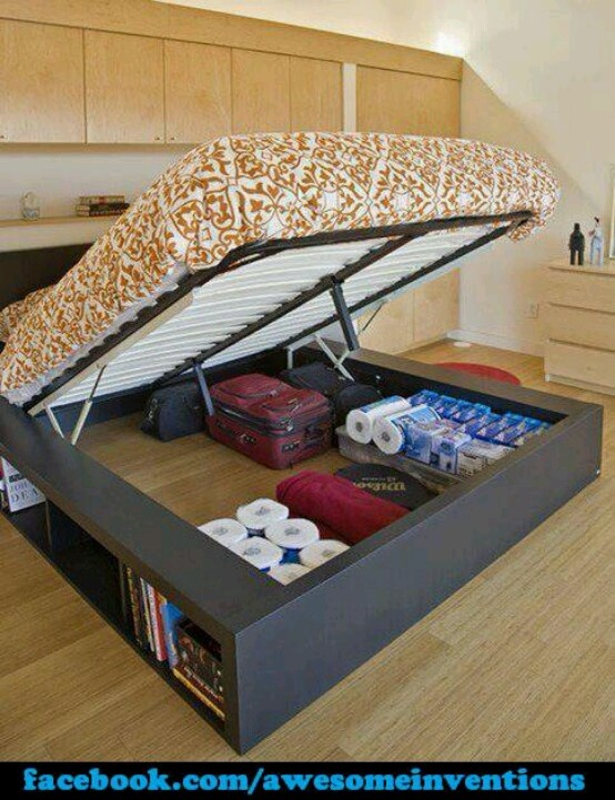 Good storage idea | your new bed?
