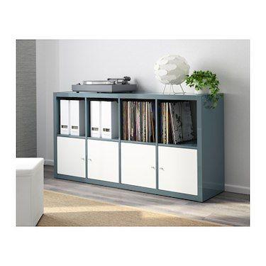 kallax shelving unit high gloss grey turquoise ikea kallax shelving unit kallax shelving and. Black Bedroom Furniture Sets. Home Design Ideas