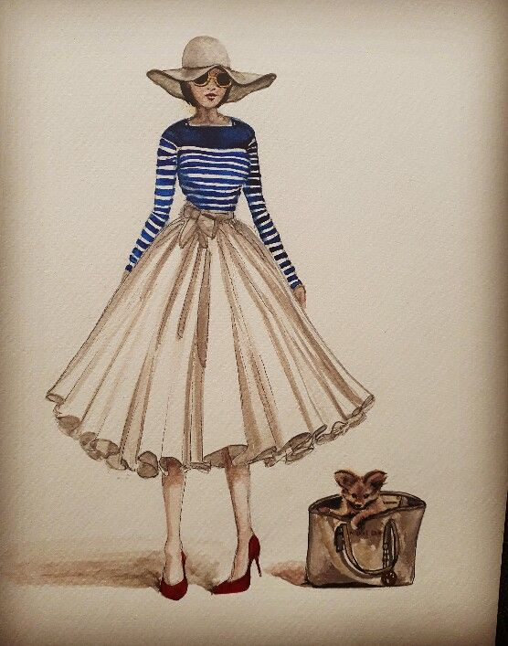 Laura Monaghan fashion illustrations