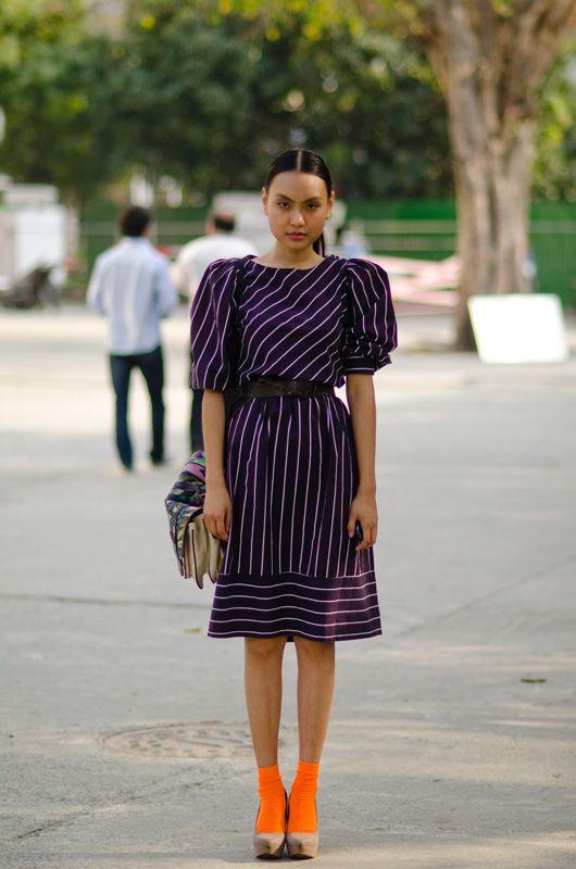 Carol Humtsoe street style wills india fashion week