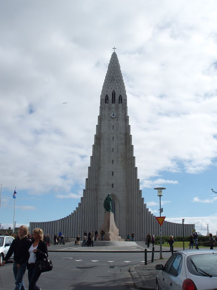 La Catedral de Cristo Rey en Reykiavik, Islandia
