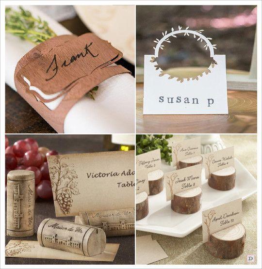 mariage rustique champêtre porte nom marque place rond serviette en bois bouchon de liège