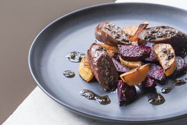 Roasted butternut and beetroot with warm spices