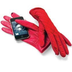 Tech Touch Gloves - Tech Touch pods on the index finger and thumb allow you to operate touch screen devices without removing your gloves!  |  180s.com