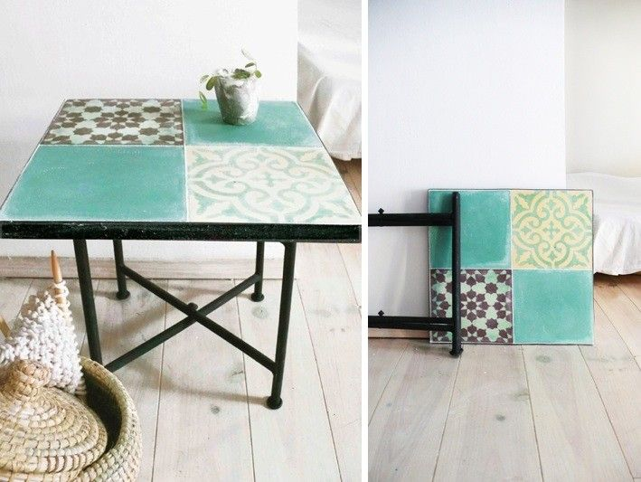 Tiled Moroccan Side Tables for a Song: Remodelista