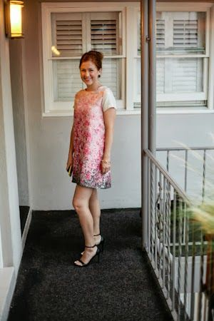 Pink Shift Dress Wedding Guest