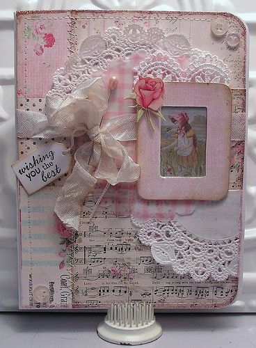 Pink--Pretty for a Picture Frame, front of an album or even a card. Lovely