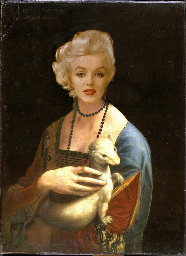 """Saatchi Art Artist Guido Prussia; Photography, """"Marilyn with an Ermine (Edition 3 of 10)"""" #art"""