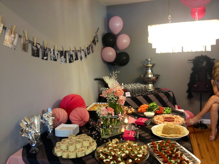 Food Table Idea For Lingerie Shower
