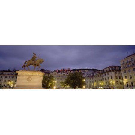 Low angle view of a statue Castelo De Sao Jorge Lisbon Portugal Canvas Art - Panoramic Images (18 x 6)