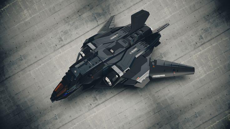 The Reaper - aka Sabre - Harsurface Spaceship, Laurentiu Nedelca on ArtStation at https://www.artstation.com/artwork/J5VqZ