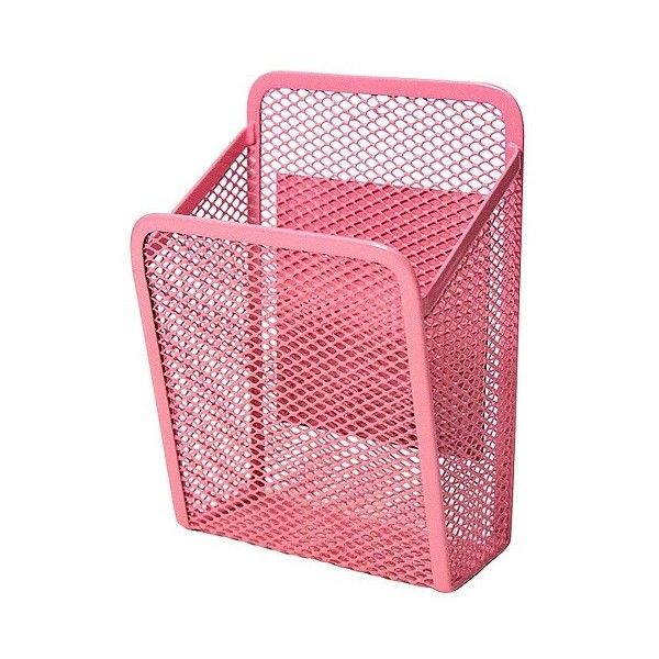 UBrands Locker Mesh Storage Bin - Pink ($2.99) ❤ liked on Polyvore featuring home, home decor, small item storage, pink, mesh bin, storage bins, pink storage bins, storage lockers and pink home decor