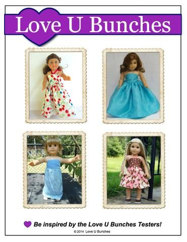 Simply Summer Sundress 18 inch Doll Clothes PDF Pattern Download | Pixie Faire
