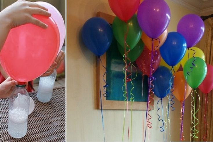 If I followed this correctly it's using vinegar and bicarbonate to fill balloons... Why have I never thought of this?? (Will have to ask someone to check my French though!) Comment gonfler un ballon sans hélium!
