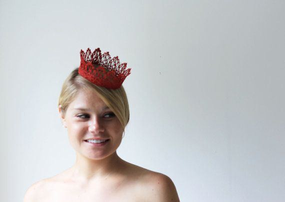 Hey, I found this really awesome Etsy listing at https://www.etsy.com/listing/158625102/ruby-red-princess-fairy-tale-lace-crown