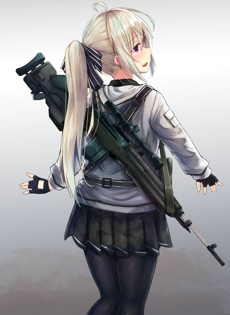 Картинки девушек с оружием из аниме