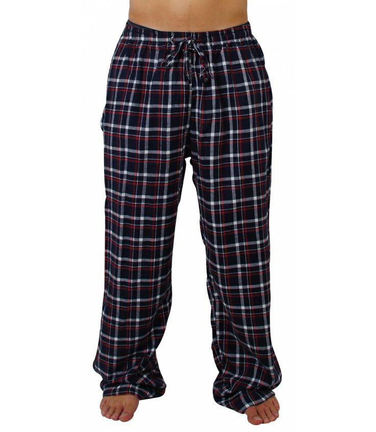 MG-1 Flanell Pyjamahose mit schickem Karomuster.  Die Hosen sind lang und weit geschnitten und haben eine lockere, bequeme Passform. Sie bestehen aus 100% Baumwollflanell und sind angenehm weich und wärmend. Guter Sitz wird durch den gerafften Bund mit Tunnelzug gewährleistet und die Hose verfügt über 2 eingearbeiteten Seitentaschen. Für weitere Infos: http://www.boxxers.de/MG-1-Flanell-Pyjamahose-navy-weiss-rot
