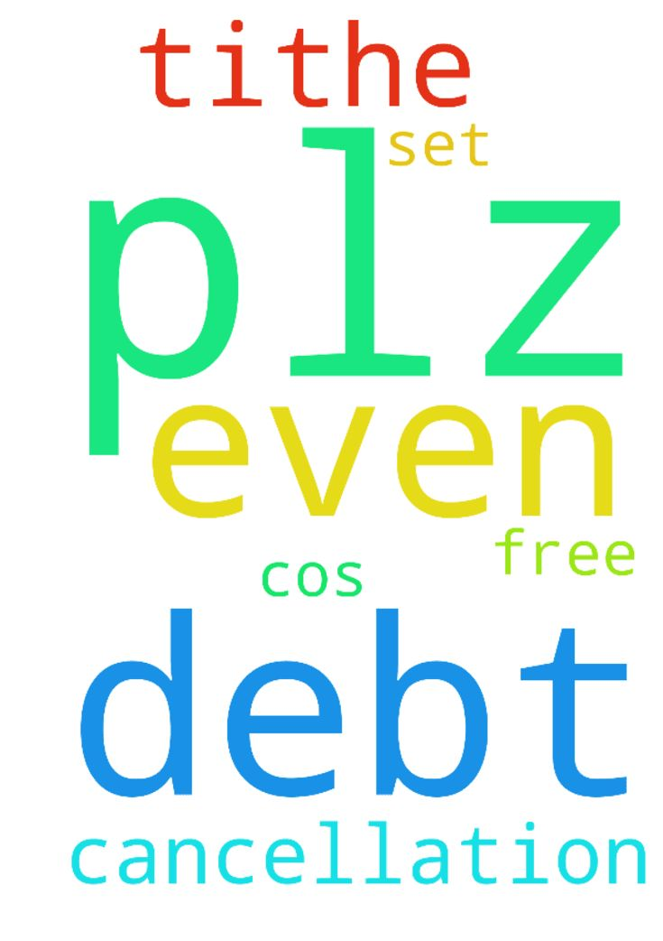 Plz pray for me cancellation of debt I can't even tithe - Plz pray for me cancellation of debt I cant even tithe cos of the debt I have plz set me free Posted at: https://prayerrequest.com/t/CXa #pray #prayer #request #prayerrequest
