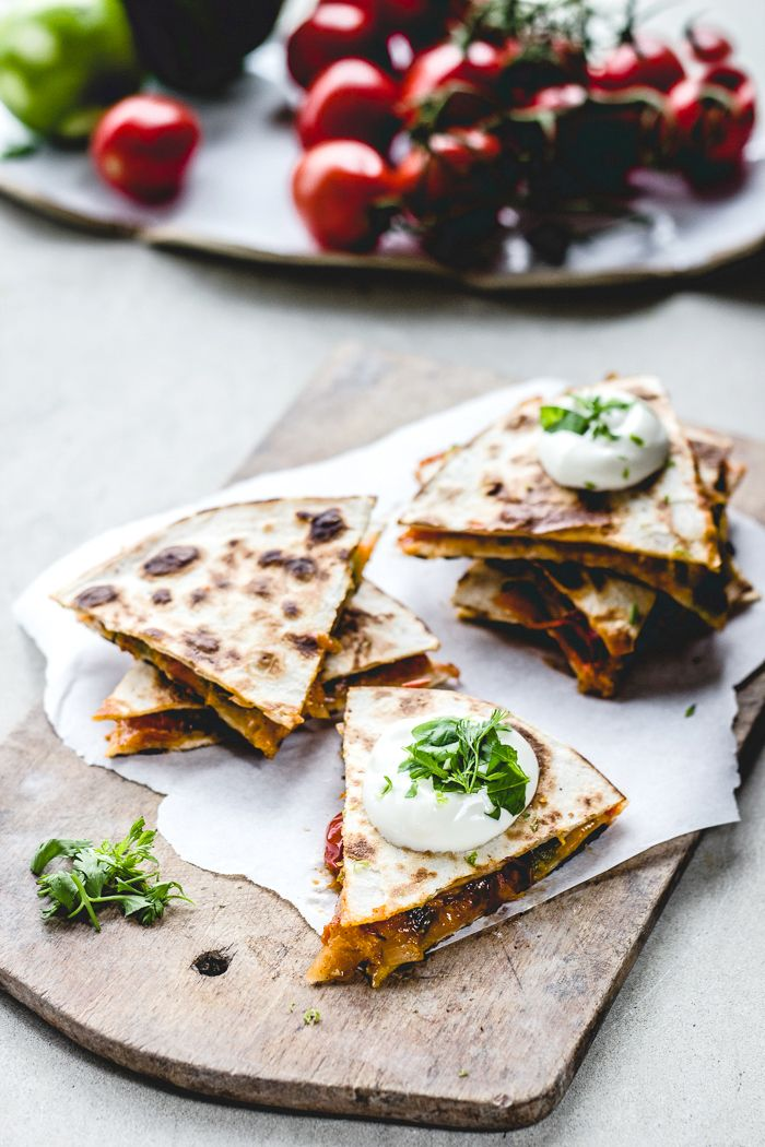 Apricot Salsa Quesadillas from Top with Cinnamon.