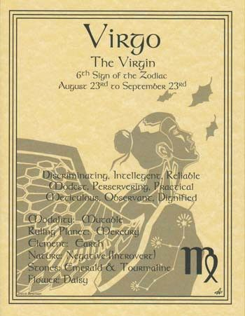 A wonderful reference, the virgo poster explores the qualities of the 6th sign of the zodiac. Hang it by your altar or keep it on hand to refer seeking to better understand how the influences of the Z