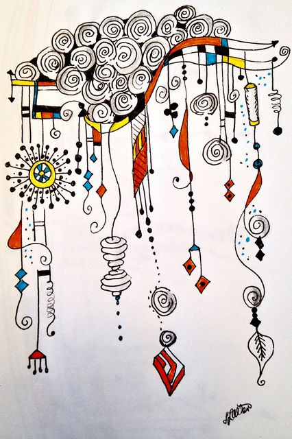 Just saw this lovely Zenspirations Dangle Design entitled Spilling Over with Happiness | Flickr | by Lynn Allen--Zenspiration