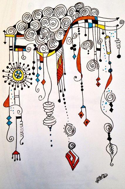 Zenspirations Dangle Design entitled Spilling Over with Happiness | Flickr | by Lynn Allen--Zenspiration