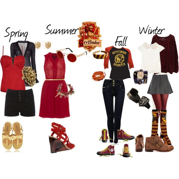 """""""Gryffindor Inspired Outfit"""" by shana-askew on Polyvore. The fall outfit!<3"""