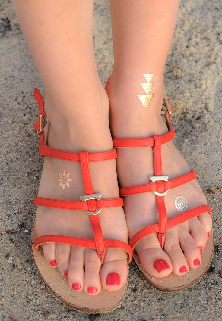 Happy Feet :: San Clemente | By TribeTats Metallic Tattoos