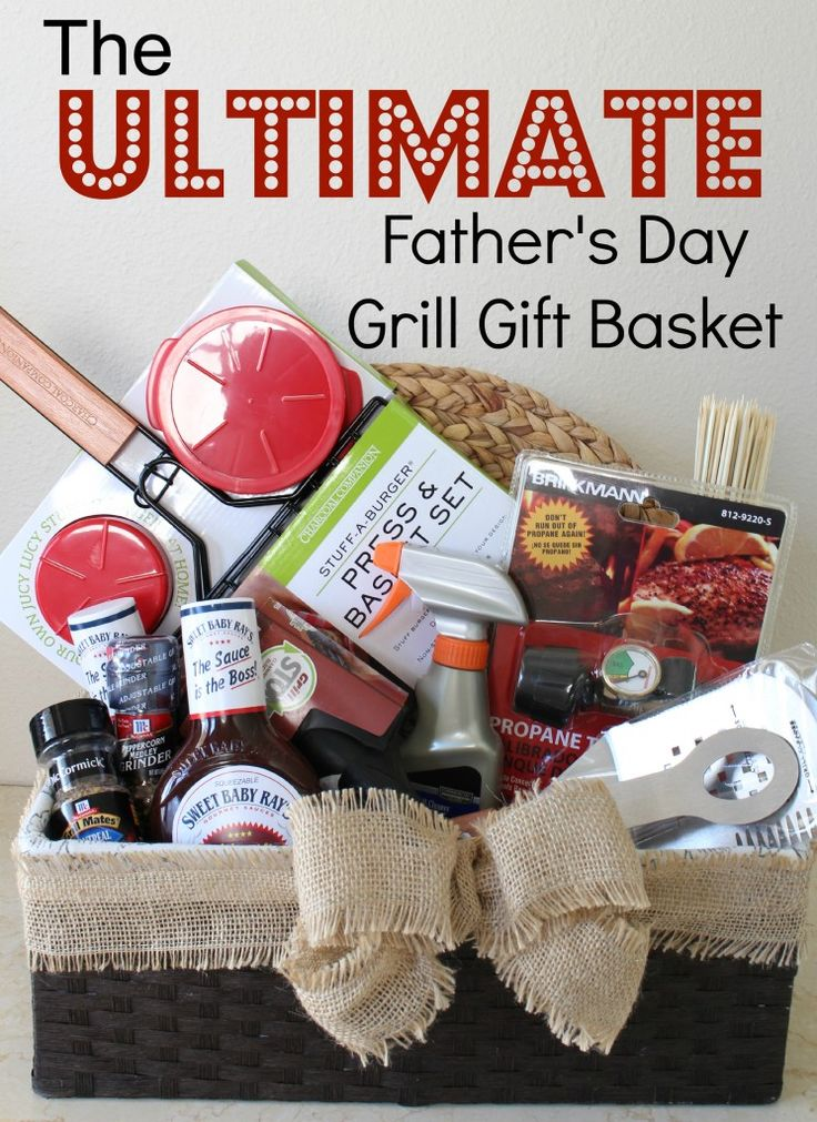 father's day grill gift basket via A Girl in Paradise