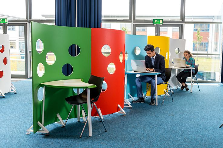 Private yet open carrel idea @ The Duston School library | Demco Interiors - Inspiring Library Design