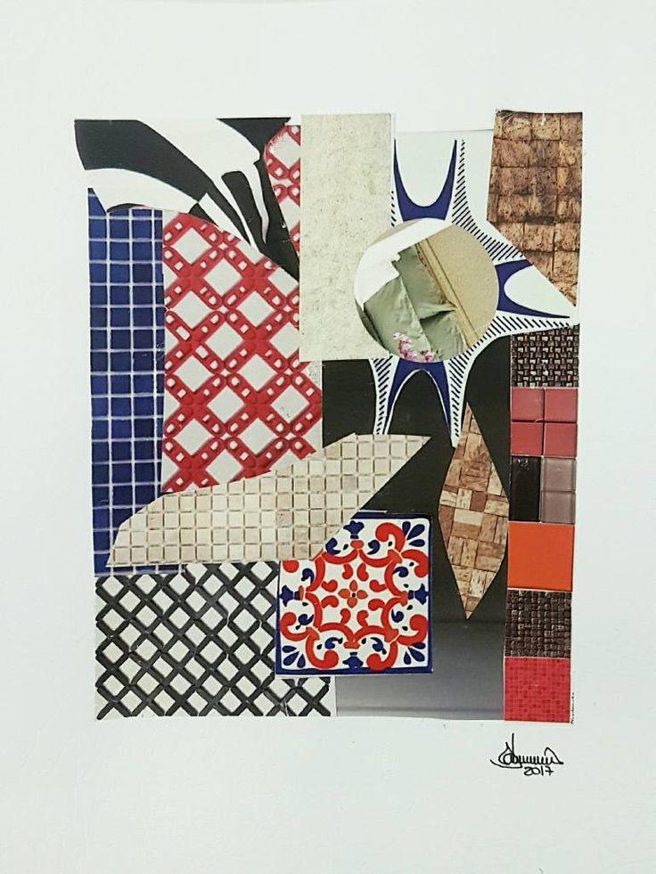 "Saatchi Art Artist Richard Brandão; Collage, ""COMPOSIÇÕES N° 005"" #art"