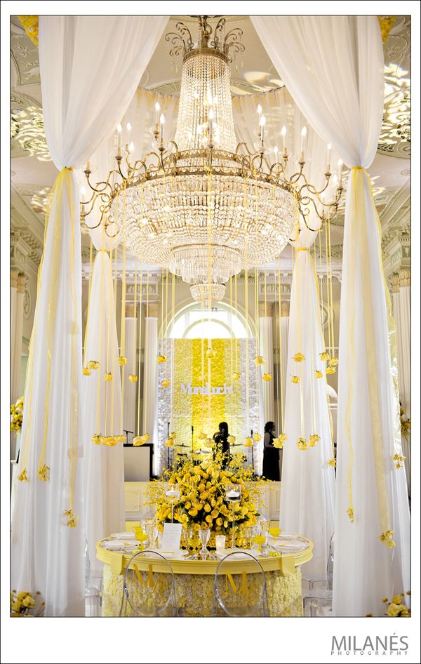 Perfect Setting For The Guests Of Honor ~ Decor By Andy Beach For The  Munaluchi Tour · Wedding YellowYellow ...