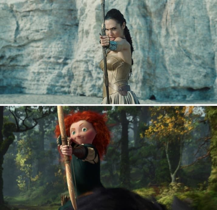 """15 Moments From """"Wonder Woman"""" That Are Eerily Similar To Your Favorite Disney Princess Movies"""