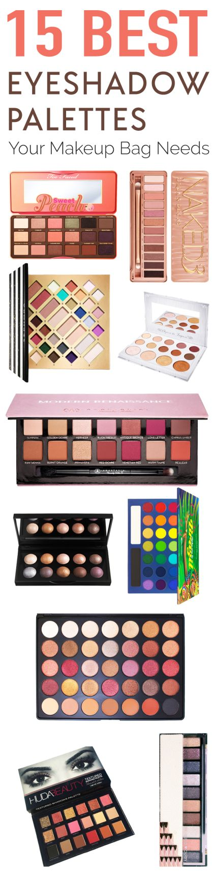 We can thank the emergence of Instagram makeup bloggers and their amazing looks for learning about these awesome eyeshadow palettes. Below, you will find 15 of the best eyeshadow palettes right now for any budget! In the world of makeup, there are so many...