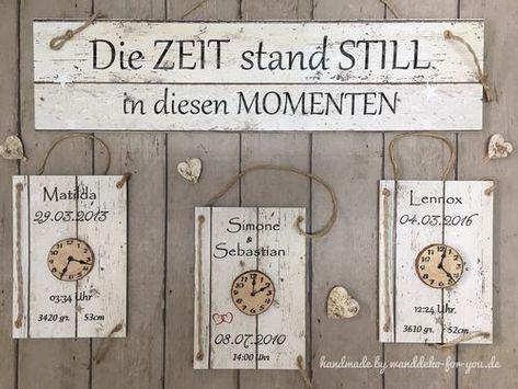 Die Zeit stand still, 4-5-6 tlg Vintage, Spruchtextschild, Sprüche, Holzschilder, Vintage, shabby chic, Liebe, Familie, Dekoration, Handmade, schwang…