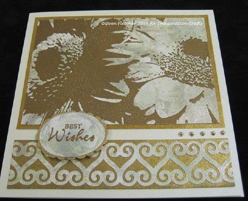 Gerbera Art Stamp.