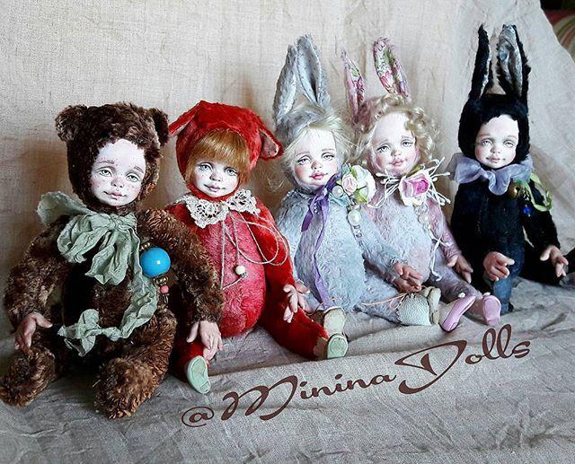 А вот и все семейство карманных теддиков))) #коллекция #сувенир #сувенирручнойработы #друзьятедди #теддидолл #флюмо #handmade #hobby #teddyfriends