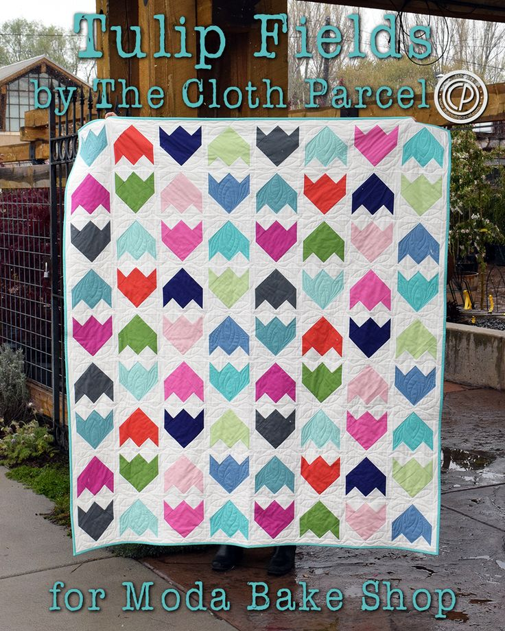 Tulip Fields Quilt - Uses 5 inch squares and 4 inch squares