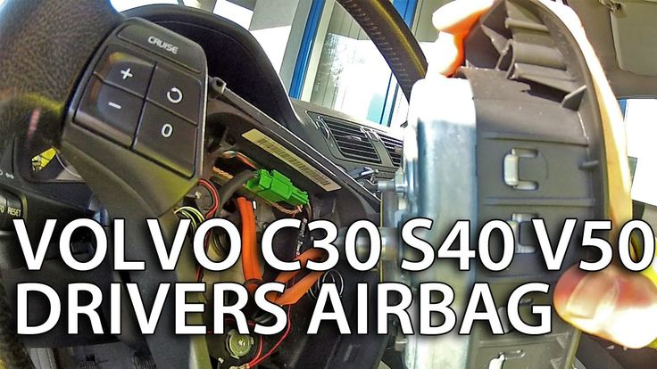 How to remove drivers airbag in #Volvo C30, S40, V50, C70