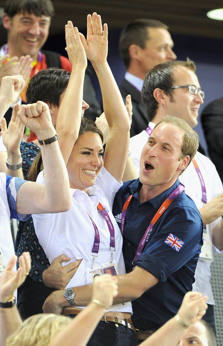 Prince William and Kate hugged after Team GB won gold over France in   The Royal Couple's Cutest PDA Moments   POPSUGAR Love & Sex
